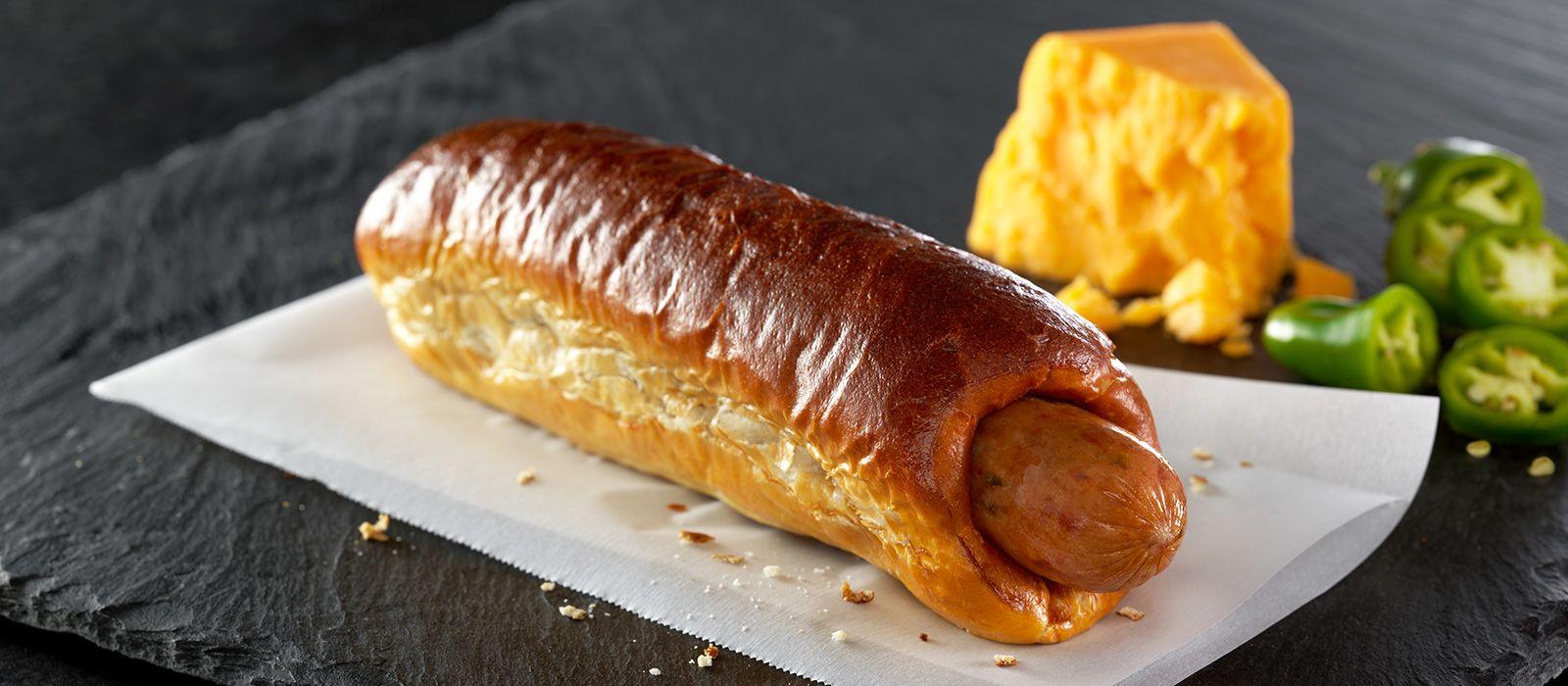 bahama mama jalapeno n cheddar twisted pretzel dog
